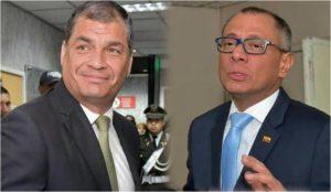 Rafael Correa y Jorge Glas. Hijo de narcotraficante e hijo de violador respectivamente.